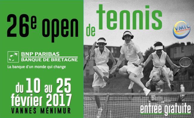 affiche 26eme open de tennis de vannes 2017