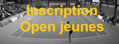 inscription open de tennis de vannes open jeune