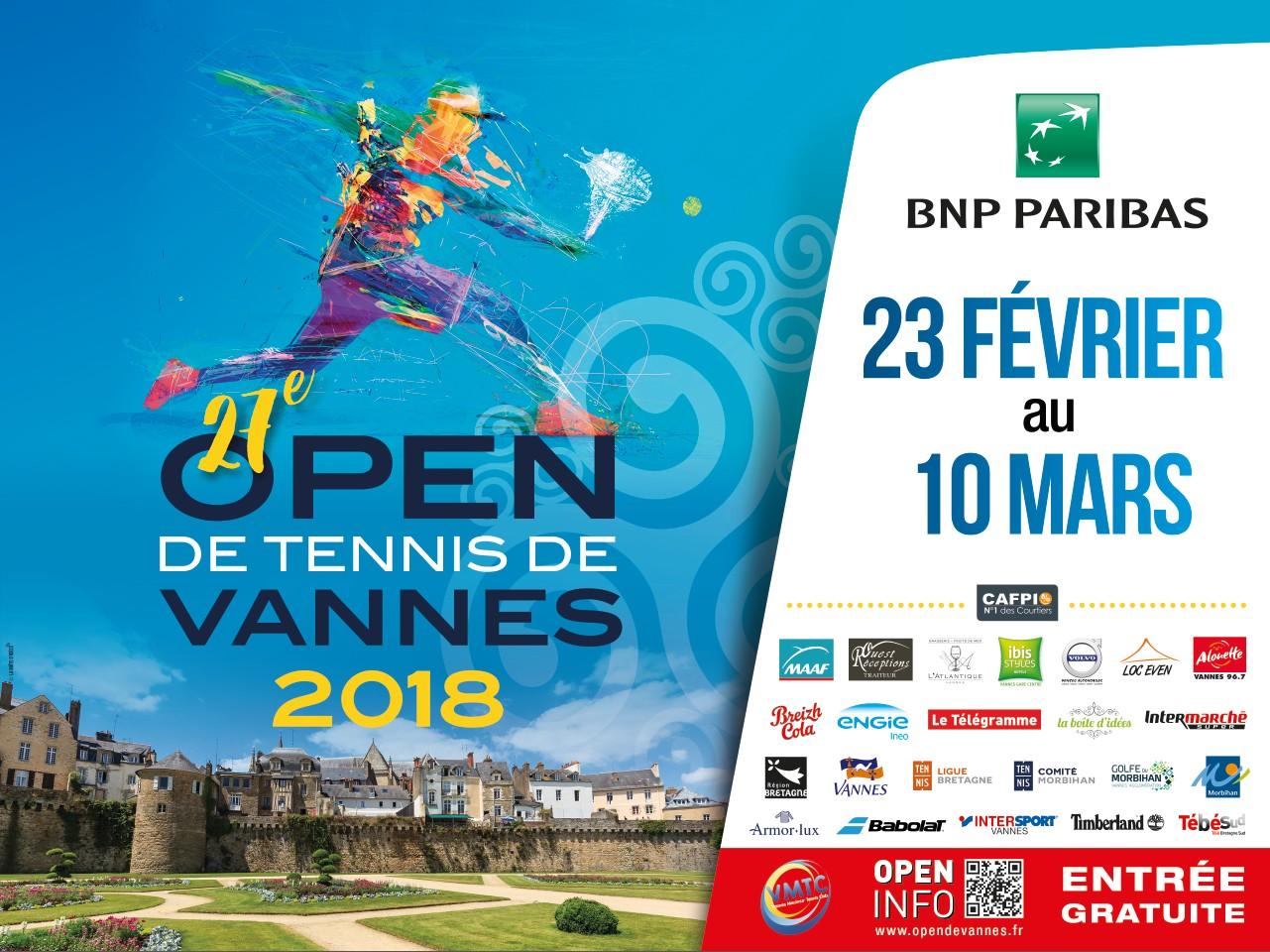 Open de vannes de tennis 2018